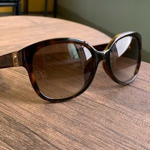 FENDI Brown Semi Cat Eye Sunglasses